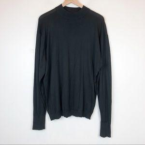 JOHN SMEDLEY Mock Neck Fine Cotton Jumper Sweater